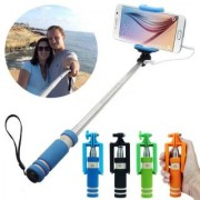 EC MiNi SeLFiE STiCK WiTH AuX FoR MoBiLE PhONe code-10