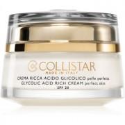 Collistar Pure Actives Glycolic Acid Rich Cream подхранващ крем за възобновяване плътността на кожата на лицето с озаряващ ефект 50 мл.