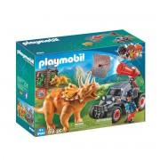 Playmobil Carro com Triceratops 9434Multicolor- TAMANHO ÚNICO