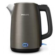 Електрическа кана Philips Viva Collection HD9355/90, вместимост 1,7л, капак с пружина, светлинен индикатор, 2060 W, цвят титанов