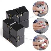 Folding Puzzles Magic Cube Infinity Fidget Cube Pressure Reduction Toy (Black)