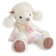 Histoire D'ours Peluche Twist Roxane, o caniche, 25 cmbranco/rosa- TAMANHO ÚNICO