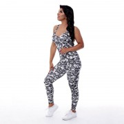 GraffitiBeasts Fire4L - Dames Sport Jumpsuit - Multicolor - Size: Small