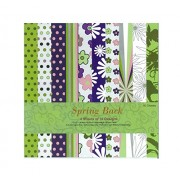 Shopaholic Spring Back Craft Papers- 10 Designs 40 Sheets