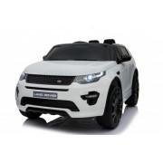 Auto na akumulato Land Rover Discovery sa kožnim sedištem i mekim gumama Beli