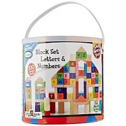 Small World Toys Ryan's Room Wooden Toys - Letters and Number Blocks 100 Pc. Set
