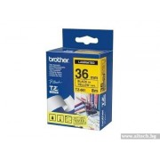 BROTHER TZ Tape, 36mm Black on Yellow, Laminated, 8m lenght, for P-Touch (TZE661)