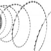 vidaXL Rakbladstråd galvaniserat stål 100m