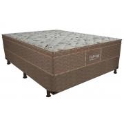 Conjunto Cama Box - Colchão Probel de Mola Bonnel ProDormir Linho Euro Pillow + Box Universal Nobuck Bege Crema - Conjunto Box King Size - 193 x 203