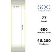 Etichette SQC - Carta termica protetta (bobina), formato 28 x 90