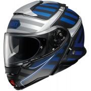 Shoei Neotec II Splicer Capacete Preto Cinzento Azul XL