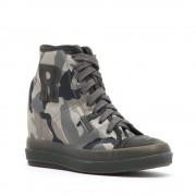 Rucoline Sneakers alte stampa militare