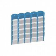 B2B Partner Wand-plastikhalter für prospekte - 5x5 a4, blau