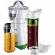 Blender cu storcator de citrice Russell Hobbs Mix & Go Juice 21352-56 300 W 2 sticle 2 conuri Alb-Verde