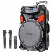 Преносима караоке система ZEPHYR ZP 9999 B15, 15 инча, Акумулатор,Bluetooth, 2 бр. безжични микрофона