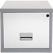 Pierre Henry Filing Cabinet Silver, White 400 x 400 x 370 mm
