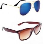 Sulit Aviator, Wayfarer, Cat-eye Sunglasses(Blue, Brown)