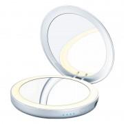 Oglinda cosmetica cu iluminare Beurer BS39, baterie externa integrata 3000 mAh, LED, 7 cm, marire 3x