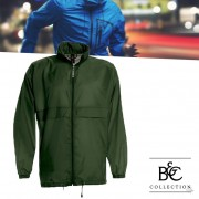 B&C Windbreaker Jas Sirocco Bottle Green