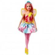 Barbie Dreamtopia - Rózsaszín hajú tündér baba
