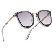 Royal Son Latest Stylish Cat Eye Oval Goggles Sunglasses For Women Girls Ladies (Black Gradiant Lens)