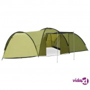 vidaXL Šator za kampiranje 650 x 240 x 190 cm za 8 osoba zeleni