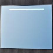 Badkamerspiegel Qmirrors Sanicare 70x80x3.5cm Aluminium Geintegreerde TL Verlichting Lichtschakelaar