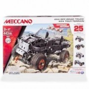 Set constructie metalic 25 in1 Meccano Masina de teren 4x4 Off Road 443 piese