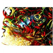 Loom Rubber Silicone Bands - 300 Pc Triple Color Rubber Band Refill Pack (Green Camo) and Compatible with All Looms
