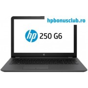 "Laptop HP 250 G6 (Procesor Intel® Core™ i3-6006U (3M Cache, up to 3.10 GHz), Kaby Lake, 15.6"" FHD, 8GB, 1TB HDD, AMD Radeon 520 @2GB, Wireless AC, DVD-RW, Argintiu-Cenusiu)"