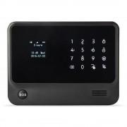 Antifurto LKM Security® WiFI e GSM Con sensori Wireless tasto SOS 433Mhz colore nero G90