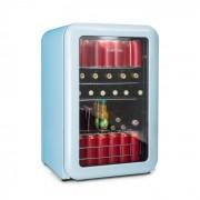 Klarstein PopLife Dryckeskylare Kylskåp 115 liter 0-10°C Retrodesign Blå