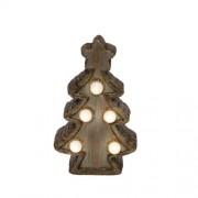 LED-es kerámia asztali dísz, fenyőfa