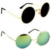 SRPM Round Sunglasses(Black, Green)