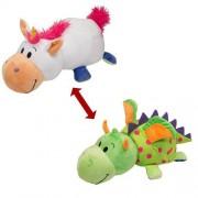 Jucarie de plus Jay At Play FlipaZoo Unicorn si Dragon 32 cm