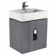 Baza lavoar cu doua sertare Kolo Twins,gri argintiu,60x46xH57 -89493