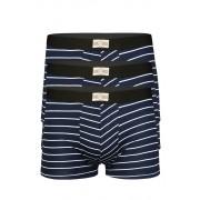 Retro boxerky levně 3 ks L tmavě modrá
