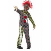 Costum halloween clown zombie copii 150 cm 10-12 ani