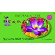 Ceai antiadipos cu Ginseng, 30dz, 2.5g, Naturalia Diet