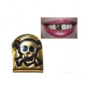 Geen Skull tandje in de kleur goud