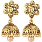 Jewels Gold Traditional Antique Party Wear Wedding Jhumka Jhumki Earring Set For Women Girls