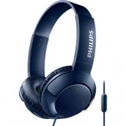 Casti on-ear cu microfon Philips SHL3075BL/00, Bass+, Albastru