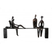 Socha LEISURE - bronzová/sivá