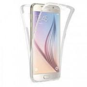Husa protectie pentru Samsung Galaxy S7 Edge Transparent Slim folie de protectie fata-spate