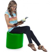 Home Story Round Ottoman L Size Green Cover Only