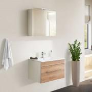 Badezimmerset in Weiß und Eiche Optik Made in Germany (2-teilig)