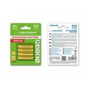 Esperanza EZA102Y Baterii reîncărcabile Ni-MH AAA 1000MAH x4