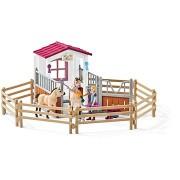 Schleich Istálló arab telivérrel és lovassal