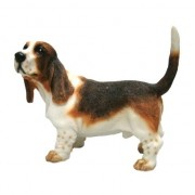 Merkloos Beeldje Basset hond 11 cm - Action products