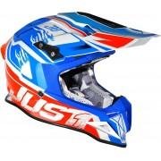 Just1 J12 Dominator Motocross Helmet White Red Blue XS
